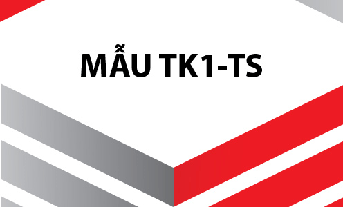 Download tờ khai TK1-TS theo Quyết định 505. Được áp dụng từ 05/2020