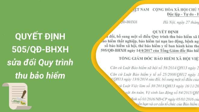 Download Quyết định 505/QĐ-BHXH, sữa đổi QĐ 595/QĐ-BHXH