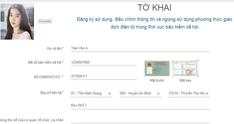 đăng ký tài khoản dịch vụ công BHXH
