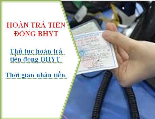Hoàn trả tiền đóng BHYT khi trùng thẻ BHYT
