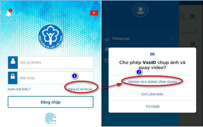 đăng nhập VssID